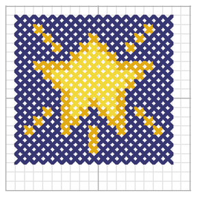 Star Cross Stitch Pattern